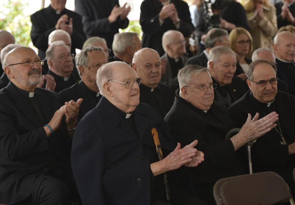 Some 56 priests enjoy the camaraderie of Regina Cleri, where they religiously track the Red Sox and watch movies.
